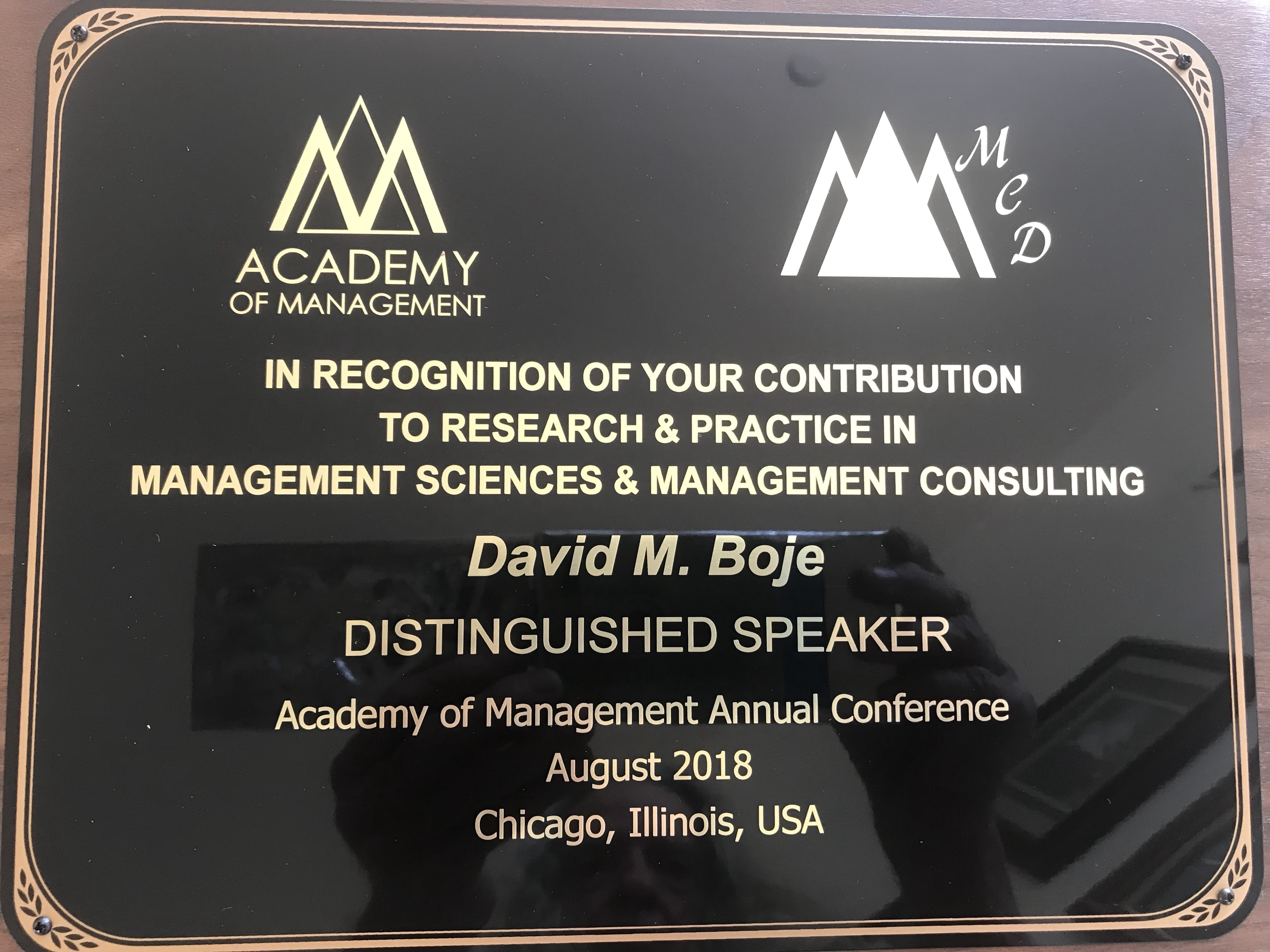 Boje Management Consulting KEYNOTE 2018